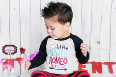 Little Mister Romeo Romeo Shirt Boy by Fairytalestitchesbou