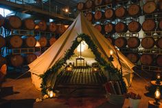 romantic tent setting