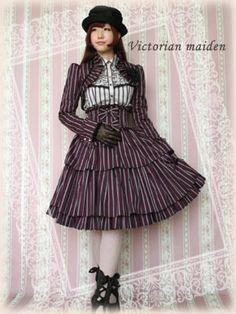 Victorian Maiden   Regimental Stripe Doll Skirt