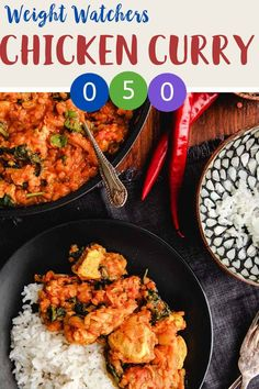 This Chicken, Lentil and Spinach curry is Zero Smart Points on Weight Watchers Freestyle plan. Simple to make and freezer friendly, this zero point curry is a perfect weight watchers dinner for any night of the week. Weight Watcher Dinners, Weight Watchers Lunches, Weight Watchers Diet, Weigh Watchers, Ww Recipes, Lunch Recipes, Indian Food Recipes, Dinner Recipes, Healthy Recipes