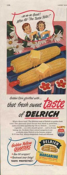 Delrich Vegetable Margarine (1950)