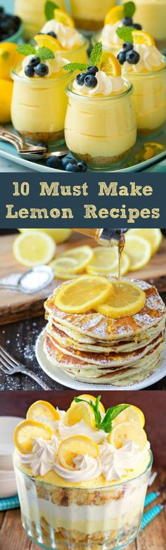 10 Must Make LEMON Recipes!!
