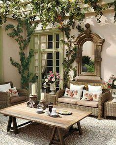 Come arredare un terrazzo in stile shabby - I complementi per l'outdoor in stile shabby