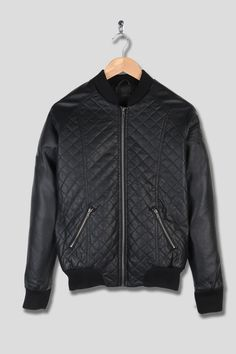 Florence Bomber Jacket in Black