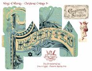 Wings of Whimsy: Vintage Christmas Village - 25 FREE printable sets of DIY Christmas Cottages & Snow Cherubs, and an assortment of matching Christmas Trees
