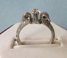 Stunning Tacori Platinum and Diamond Pave Ring, CZ Center Stone, Size 6-1/2