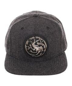 1099cda23cd Bioworld Game of Thrones Silvertone   Gray Targaryen Crest Baseball Cap