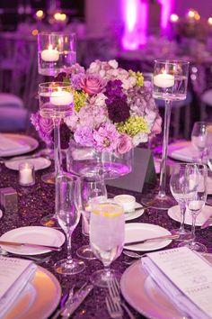 Arizona Wedding: A Glimmering Purple Celebration