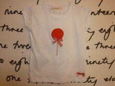 Camiseta niña manga corta piruleta bordada $19 euros.