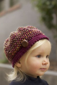 AVA BERET  by Sarah Grieve Free pattern. Which is cuter? The hat or the little cutie wearing it?