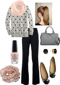 Winter business casual - Looks like a good, comfy look for the airport.