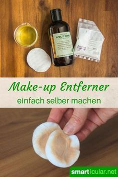 Herkömmliche Make-up-Entferner kannst du dir abschminken! Diese DIY-Abschmink-L… You can remove make-up from conventional make-up removers! This DIY make-up removal lotion from only three ingredients gently cleanses and cares for the skin. Maquillaje Diy, Diy Beauty, Beauty Hacks, Beauty Tips, Beauty Care, Beauty Makeup, Face Makeup, Natural Makeup Remover, Moisturizer