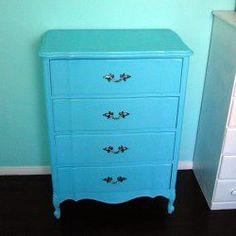 spray-painted dresser
