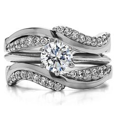 Jewelry Diamond : Bypass Wedding Ring Guard Enhncer ( 0.54 ct. twt.)