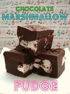 Chocolate Marshmallow Fudge - made these for my coworkers...it was easy and turned out delicious!!