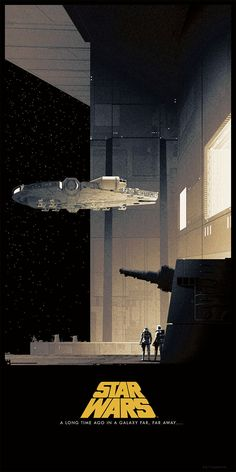 Star Wars Posters by Matt Ferguson Limited edition run of officially licensed series of Star Wars posters, created by artist Matt Ferguson. The 12 x 24 inches minimalist Star Wars posters, will be on sale at Bottleneck Gallery… Star Wars Fan Art, Star Wars Film, Nave Star Wars, Star Trek, Star Wars Poster, Cuadros Star Wars, Star Wars Painting, Images Star Wars, Ralph Mcquarrie
