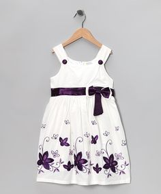 The day will be filled with dance and play because this dress is all prepped to sashay. Boasting a beautifully embroidered floral print, buttoned straps and a zippered back, this flowery frock is a bouquet of comfort, charm and cheer. 65% cotton / 35% polyesterMachine wash; tumble dryImported