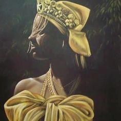 Airasana Busato, granddaughter and daughter of artists, is a young and profoundly called upon Brazilian artist. African American Art, African Art, African Style, Oshun Goddess, Yoruba Orishas, Yoruba People, Yoruba Religion, Popular Art, African Culture
