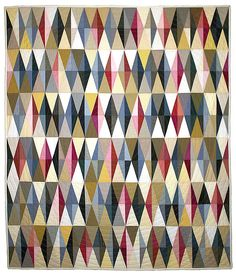 Diamond Quilt by Tara Faughnan Maybe Quilter's Dream pattern? Scrappy Quilts, Baby Quilts, Quilting Fabric, Patch Quilt, Quilt Blocks, Quilt Modernen, Harlequin Pattern, Contemporary Quilts, Textiles