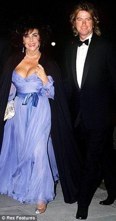 Elizabeth Taylor and Larry Fortensky in London in 1991.  Divorced 1996.
