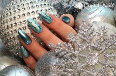 #winternail #naildesign #crystalnails #chrome #crystalac #nails
