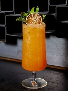 Transport yourself by whipping up this high-brow tropical cocktail from Zuma restaurant called the Himari Smash. It's easy: Muddle 6 mint leaves in a mixing tin. Add equal parts tequila, bitters, passion fruit purée and grapefruit juice, then shake vigorously. Strain the cocktail into a tall glass with crushed ice. Garnish with an orange wheel and mint sprig for extra fancy.