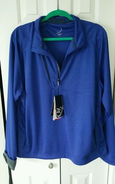 ZERO RESTRICTION Men's Golf Polo Tech Layers 1/2 Zip Pullover Jacket XL Blue in Clothing, Shoes & Accessories, Men's Clothing, Coats & Jackets   eBay