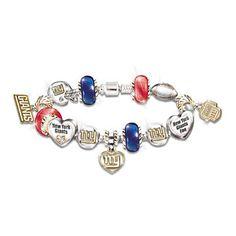 NY Giants charm bracelet...yes please