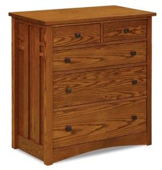 Amish Kascade Five Drawer Child's Chest of Drawers Storage for the kids room that's made with solid wood. Highly durable and attractive. Custom made in choice of wood and stain. Option to add soft close drawers that never slam. #kidsfurniture #bedroomchest