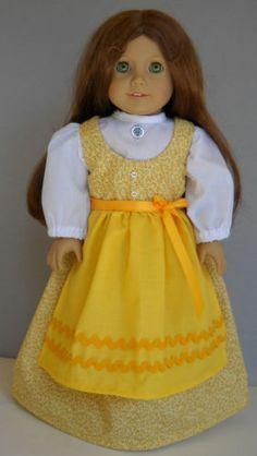 Fits-18-American-Girl-doll-Austria-Austrian-folk-dirndl-clothes-F-COSTUME-ONLY