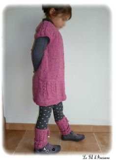 modèle tricot robe fille 4 ans