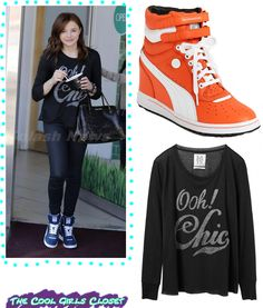 0218591c735f Cool Girls Closet  I love Chloë Moretz Puma Wedge Sneakers