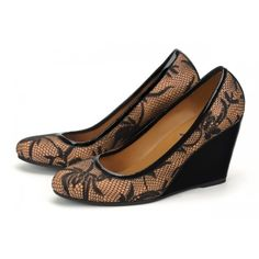 an essential for every woman's wardrobe - A demi - wedge heel makes this pump a winner in both comfort and style.
