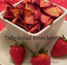 DIY Dehydrated Strawberries
