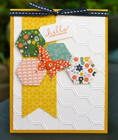 Krystal's Cards: Stampin' Up! Honeycomb Flower Shop Fundraiser Cards and August Stamp Class #stampinup #krystals_cards #sendacard #papercrafts #cardmaking #handstamped