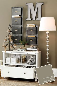 Wildwood Crest By Benjamin Moore Small Office Storage, Organizing Small  Office Space, Office Storage