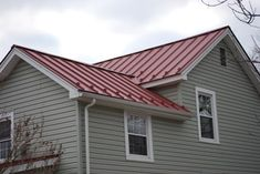 New Metal Roofs For Old Houses Red Roof House Metal Roof Houses House Paint Exterior