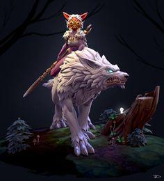 Mononoke Warcraft, Julien Desroy on ArtStation at https://www.artstation.com/artwork/4RlrW?utm_campaign=digest&utm_medium=email&utm_source=email_digest_mailer