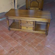 ANTIQUE/REPRODUCTION OLD CHARM STYLE OAK COFFEE TABLE WITH DRAWERS BY NATHAN
