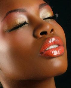 Love a bold lip color on our dark skin