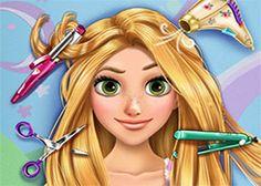 SofiaJuegos.com - Juego: Peluquería Rapunzel - Juegos de Cortar el Pelo y Peinados Gratis Online