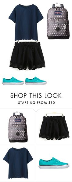 """How Do You Do?"" by grace-dxvii on Polyvore featuring JanSport, Uniqlo and Vans"