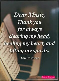 Dear music...