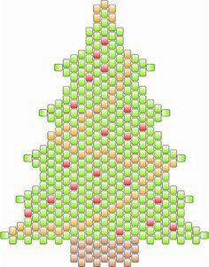 Los patrones del grano libres e Ideas: ornamento de navidad en Peyote - Patrón gratuito