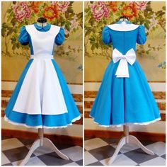 Alice in Wonderland cosplay commission Cosplay Alice In Wonderland, Halloween Alice In Wonderland, Alice Halloween, Alice In Wonderland Characters, Alice In Wonderland Clothes, Costume Alice, Dyi Costume, Alice Cosplay, Children Costumes