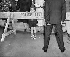 Police line do not cross - Baltimore 1950s