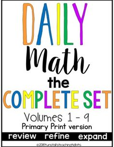 This morning work packet is all 8 of my daily math packets in one!  A year's worth of daily math skill pages!****These sets are being updated.  Volumes 1-6 reflect the changes and I will continue to add the new packets.  The set is complete now, but I will still be adding the new packets to it as they are updated.**** These pages can be used for small group, whole group, morning work, seat work, daily warm up, or homework.