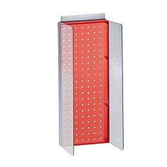 Azar Displays 700359RED 8 W x 20625 H Pegboard Powerwing Display with 3 W Side Wings in Translucent Red *** Click image to review more details. (This is an affiliate link) #StorageOrganization