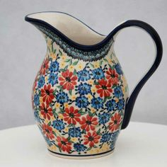 Awesome pitcher! Polish pottery