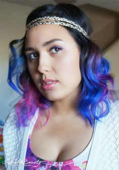 special effects dye blue haired freak and atomic pink